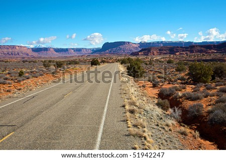 Highway 211 heading into Canyonlands National Park, Utah