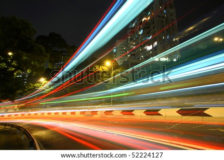 highway in Hong Kong - stock photo