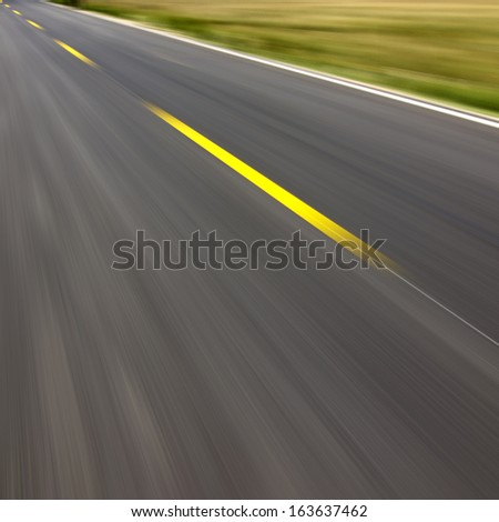 Highway in the future - stock photo