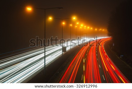 Highway in the night