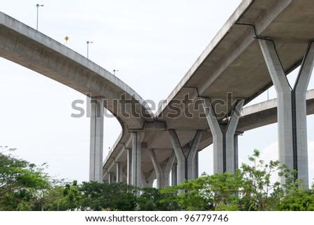 highway junction - stock photo