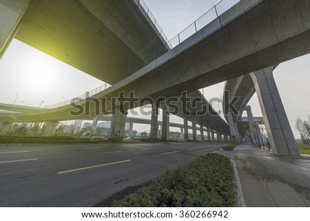 Highway overpass - stock photo