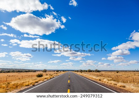 highway road, USA - stock photo