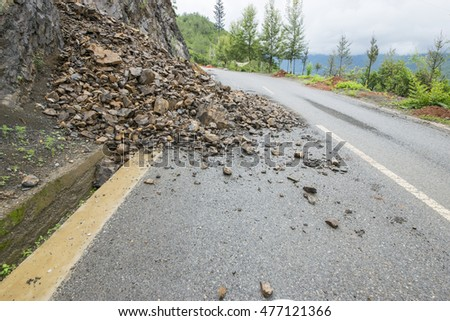 Highway Rock Collapse