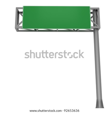 Highway sign with free space for your own text