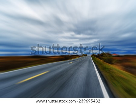 Highway speed rush abstraction - stock photo
