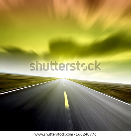 Highway speeds - stock photo