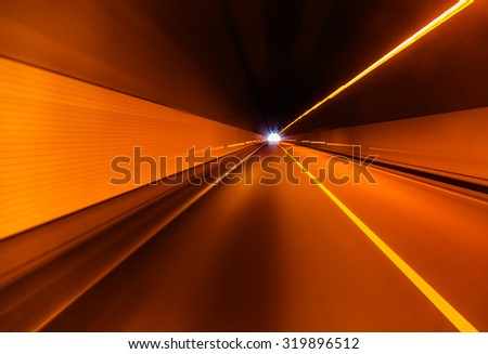 highway tunnel in china, closeup of photo - stock photo