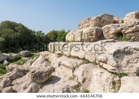 Hike at Midras Ruins, Israel