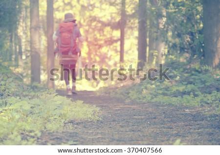 Hike image - stock photo