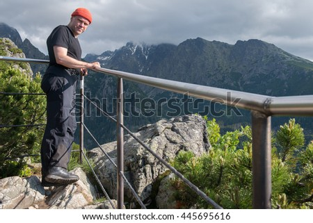 hiker, High Tatra Mountains, Slovakia, Western Carpathians