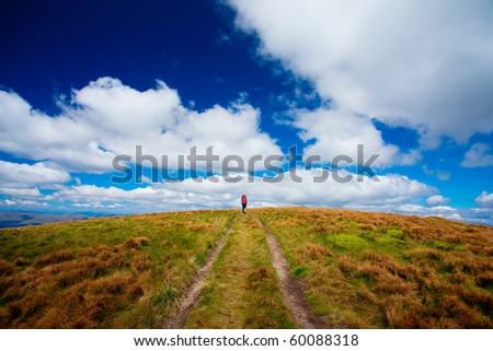 hiker in autumn