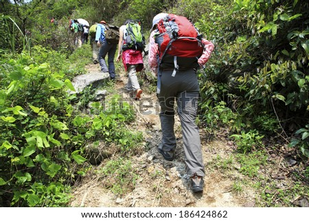 hiking  - stock photo