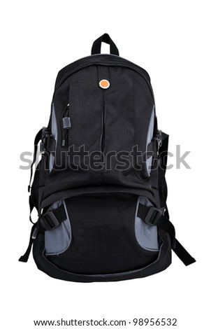 hiking backpack on a white background