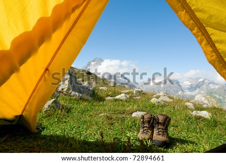 hiking concept - stock photo