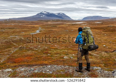 Hiking in northern Sweden