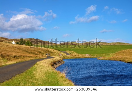 Hiking trail in Inverclyde - stock photo