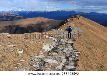 hiking trails on Mount Generoso, Switzerland