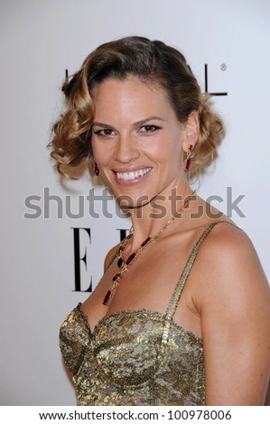 Hilary Swank at the  17th Annual Women in Hollywood Tribute, Four Seasons Hotel, Los Angeles, CA. 10-18-10