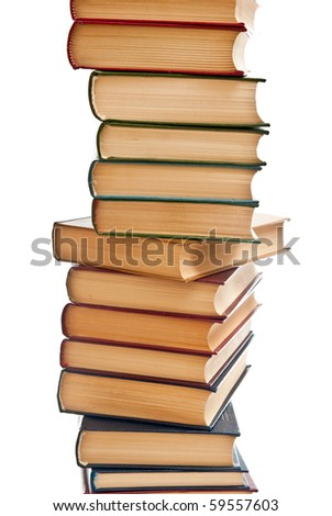 Hill from books.Isolated on white background