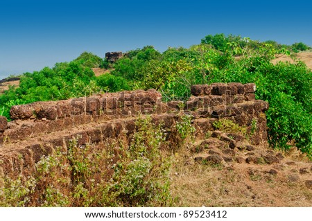 Hill in India - stock photo