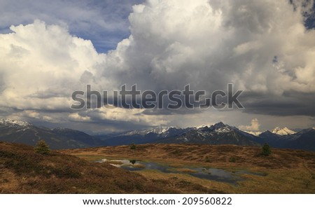 hill moor in Tirol - stock photo