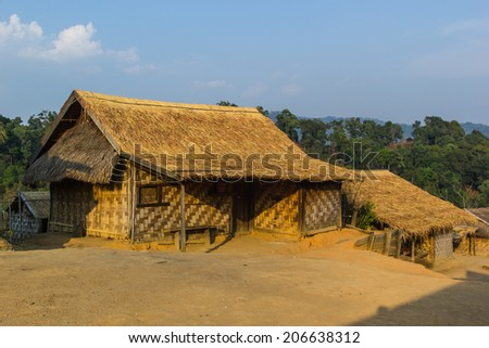 Hill tribe village, Shan State, Myanmar (Burma)  - stock photo