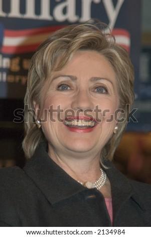 Hillary Rodham Clinton, New York Senator, wife of President Bill Clinto, Presidential Candidate - stock photo