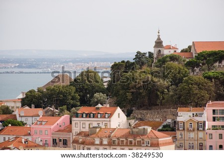 Hills of Lisbon Portugal architecture