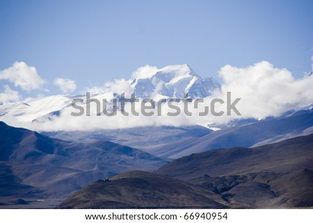 Himalaya mountain view - stock photo