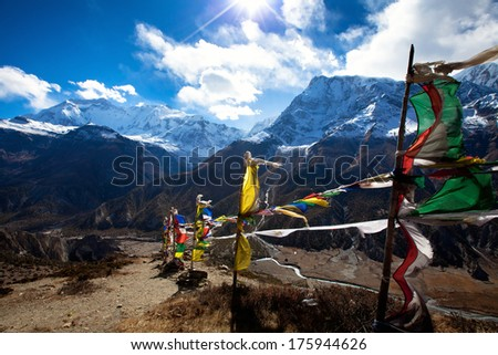 Himalaya mountains, Nepal - stock photo