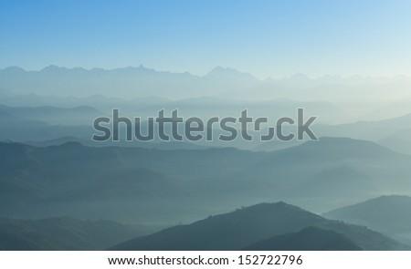 Himalaya range,Nepal - stock photo