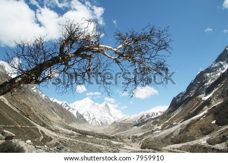 Himalayan mountain - stock photo