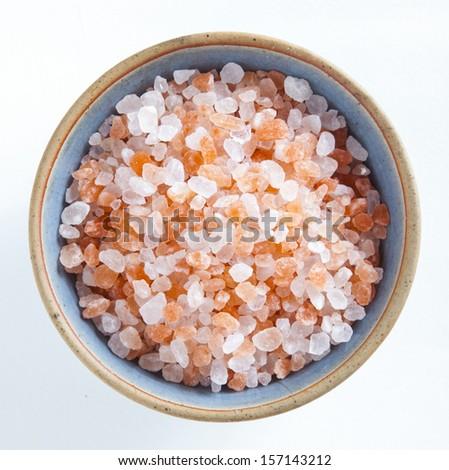 Himalayan pink salt in a cup - stock photo