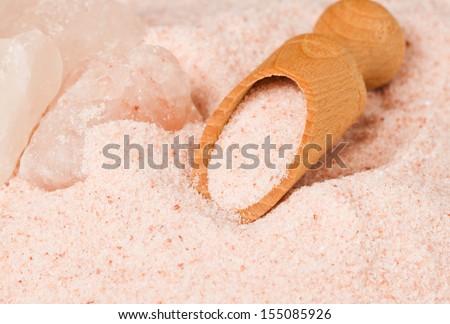 Himalayan salt - stock photo