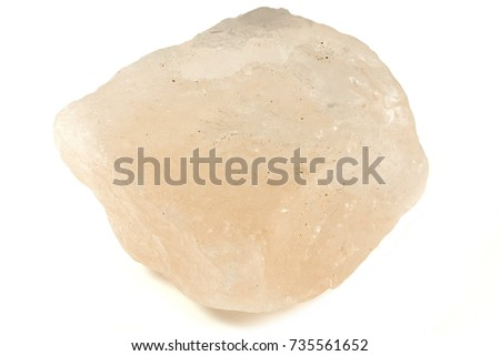 Himalayan salt crystal isolated on white background