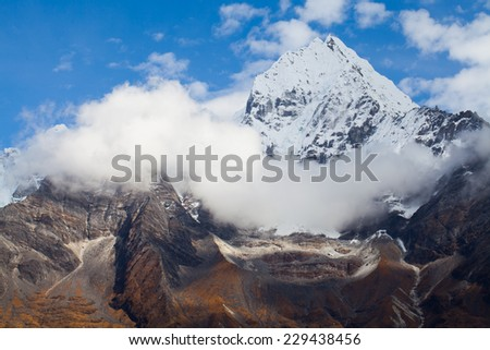 HImalayas, Everest Region, Nepal - stock photo