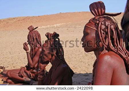 Himba Women - stock photo
