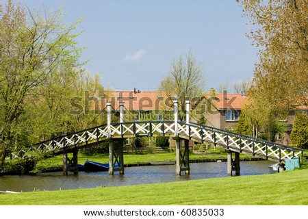 Hindeloopen, Friesland, Netherlands - stock photo