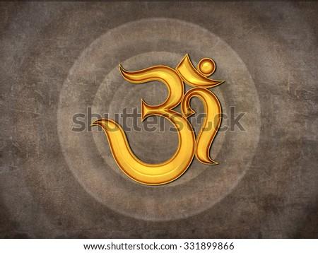 Hindu Om Icon - stock photo