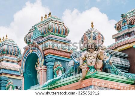 Hindu Temple - stock photo