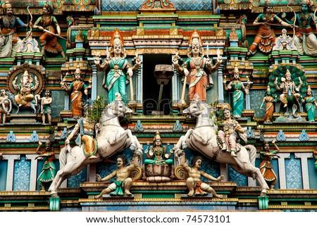 Hindu temple in kuala lumpur malaysia - stock photo