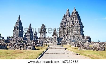 Hindu temple Prambanan. Indonesia, Java, Yogyakarta - stock photo