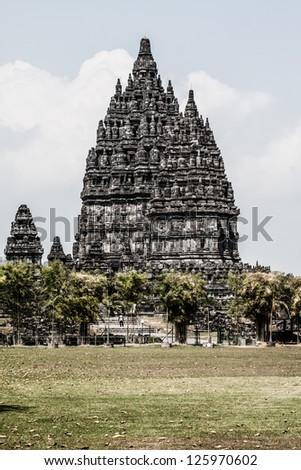 Hindu temple Prambanan. Indonesia, Java, Yogyakarta ( HDR image ) - stock photo