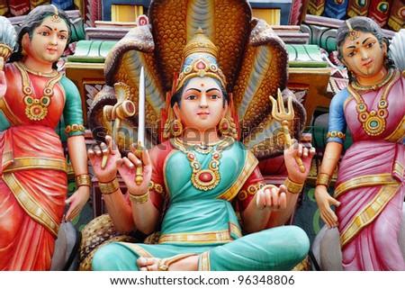 hindu temple statue - stock photo