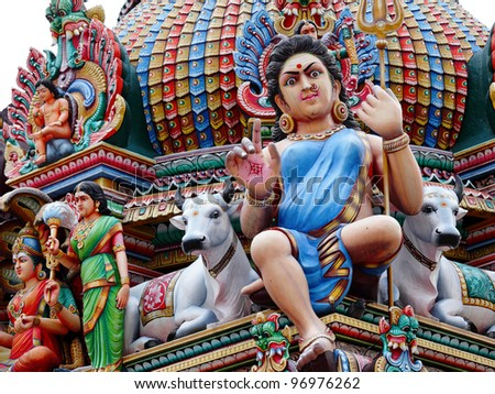 hinduism statues - stock photo