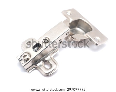 hinges on a white background