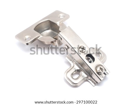hinges on a white background - stock photo