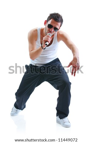 Hip-hop artist - stock photo