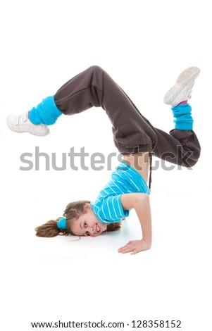 hip hop  break or street dancer - stock photo